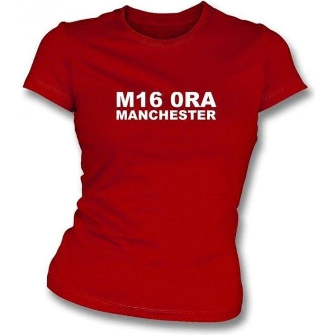 M16 0RA Manchester Women's Slimfit T-Shirt (Man Utd)