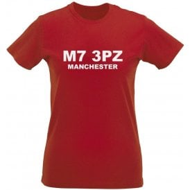 M7 3PZ Manchester Womens Slim Fit T-Shirt (Salford City)