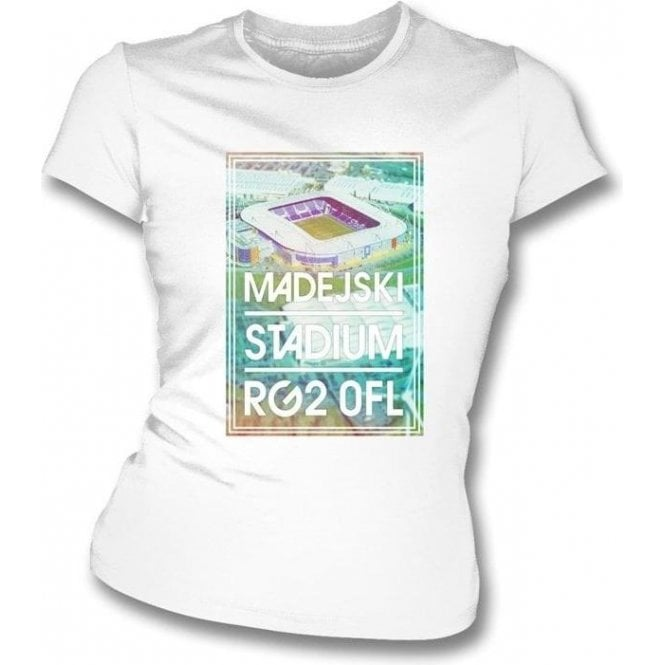 Madejski Stadium RG2 OFL (Reading) Women's Slim Fit T-shirt
