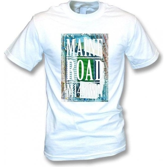 Maine Road M14 7WN (Manchester City) T-shirt