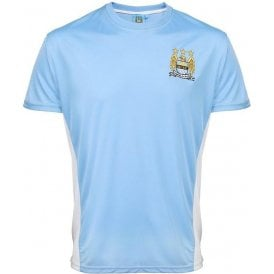 Manchester City Adults Performance (1997-2016 Badge) T-Shirt