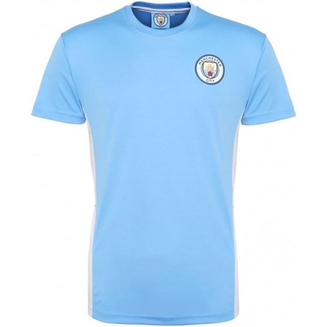 Manchester City FC Adults Performance (2016 Badge) T-Shirt
