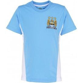 Manchester City FC Kids Performance (1997-2016 Badge) T-Shirt