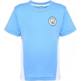 Manchester City FC Kids Performance (2016 Badge) T-Shirt