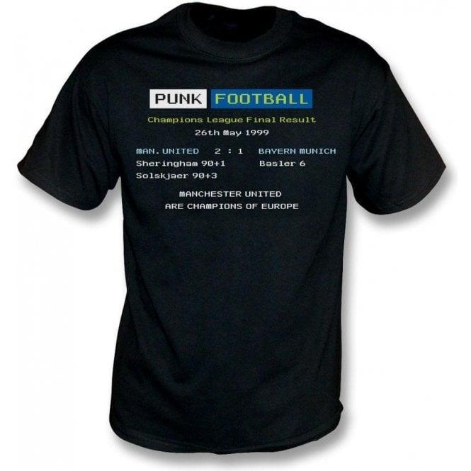 Manchester United 1999 Ceefax T Shirt From Punk Football Uk