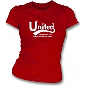Manchester United - Best Team in the World Womens Slim Fit T-Shirt