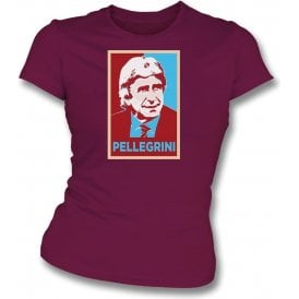 Manuel Pellegrini - Hope Poster (West Ham) Womens Slim Fit T-Shirt