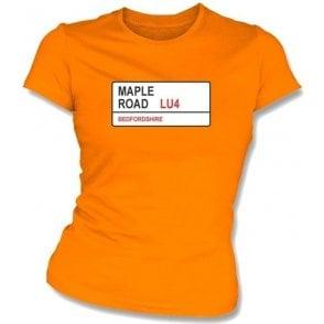 Maple Road LU4 Women's Slimfit T-Shirt (Luton Town)