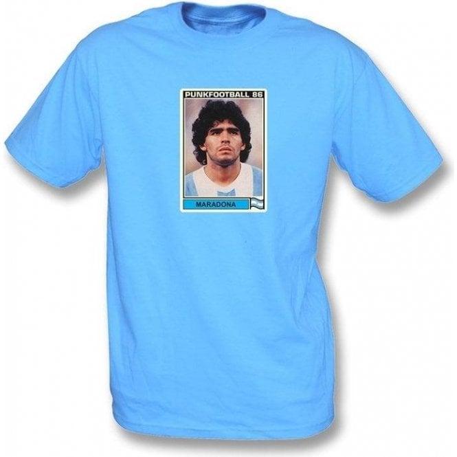 Maradona 1986 (Argentina) Light Blue T-Shirt