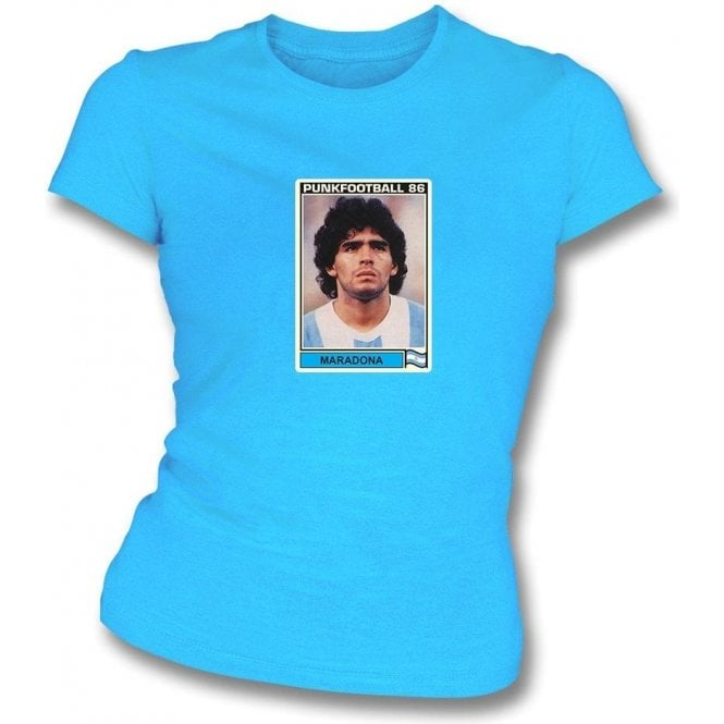 Maradona 1986 (Argentina) Light Blue Women's Slimfit T-Shirt