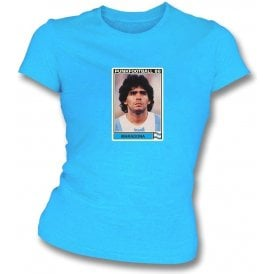 Maradona 1986 (Argentina) Light Blue Women's Slimfit T-Shirt
