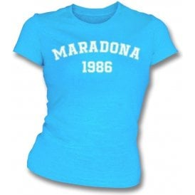 Maradona 1986 (Argentina) Womens Slim Fit T-Shirt