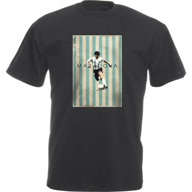 Maradona Vintage Poster Vintage Wash T-Shirt