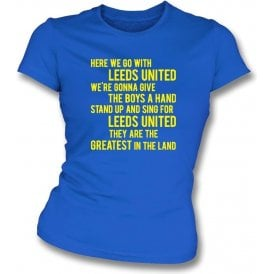 Marching On Together Womens Slim Fit T-Shirt (Leeds United)