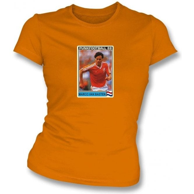 Marco Van Basten 1988 (Holland) Orange Women's Slimfit T-Shirt