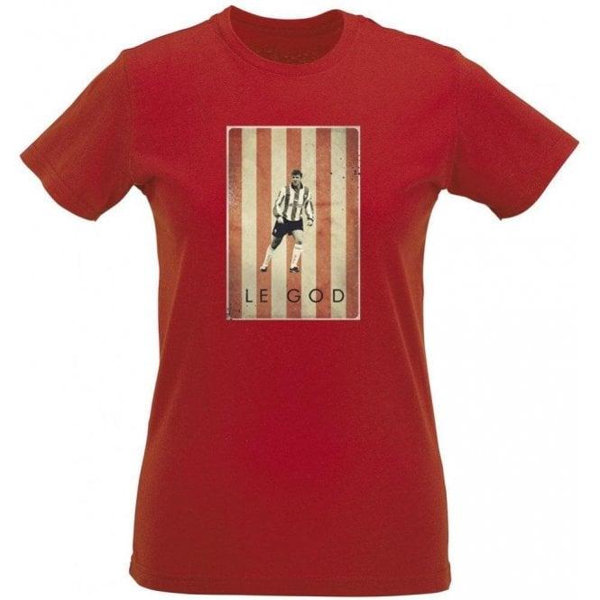 Matt Le Tissier: Le God Vintage Poster Womens Slim Fit T-Shirt