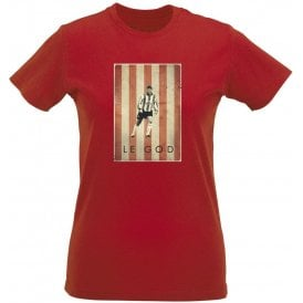 Matt Le Tissier: Le God Vintage Poster Womens Slim Fit T-Shirt