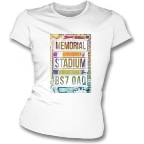 Memorial Stadium BS7 OAQ (Bristol Rovers) Women's Slim Fit T-shirt