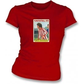 Mick Channon 1970 (Southampton) Red Women's Slimfit T-Shirt