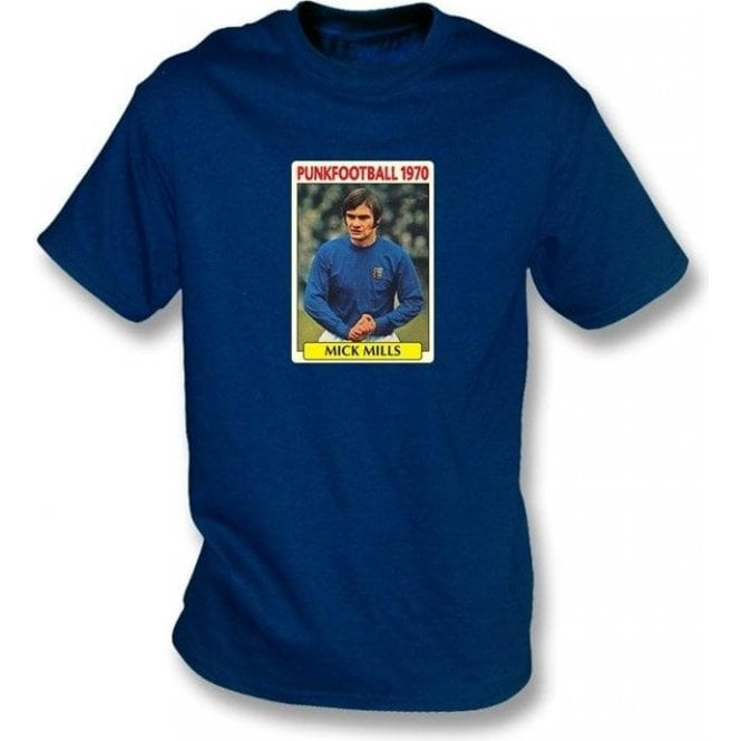 Mick Mills 1970 (Ipswich Town) Navy T-Shirt