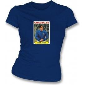 Mick Mills 1970 (Ipswich Town) Navy Women's Slimfit T-Shirt