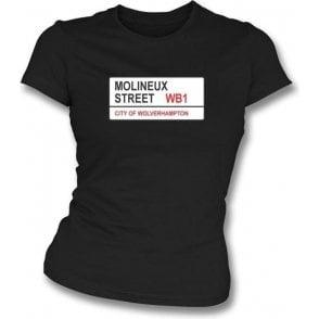 Molineux Street WB1 Women's Slimfit T-Shirt (Wolves)