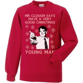 Mr. Clough Says Have A Very Good Christmas Young Man Christmas Jumper