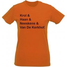 Netherlands World Cup 1978 Womens Slim Fit T-Shirt