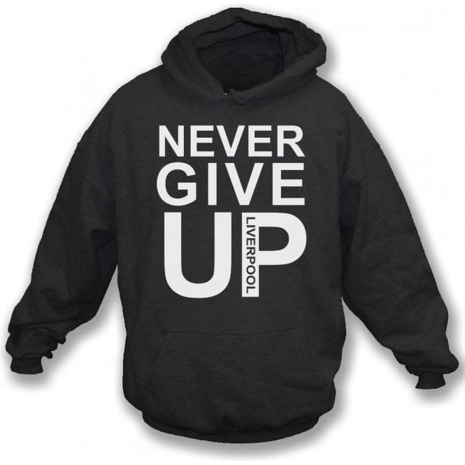 Never Give Up (As Worn By Mo Salah) Kids Hooded Sweatshirt