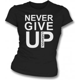 Never Give Up (As Worn By Mo Salah) Womens Slim Fit T-Shirt