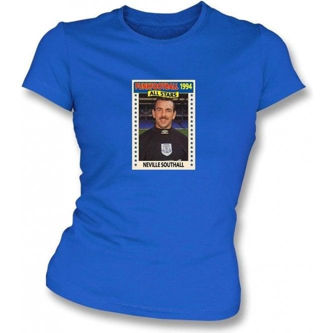 Neville Southall 1994 Everton Royal Blue Womens Slimfit T Shirt