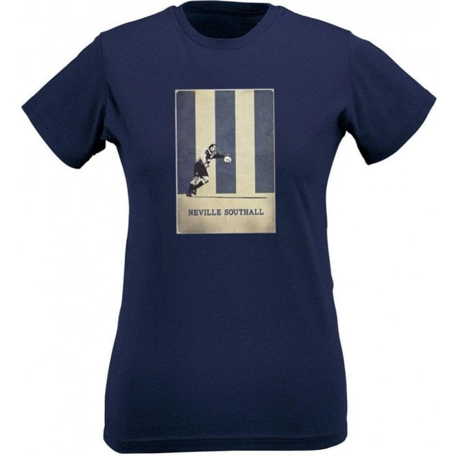 Neville Southall (Everton) Vintage Poster Womens Slim Fit T-Shirt