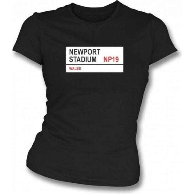 Newport Stadium NP19 Women's Slimfit T-Shirt (Newport County)