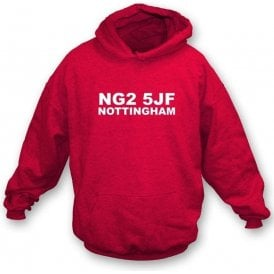 NG2 5JF Nottingham Hooded Sweatshirt (Nottingham Forest)