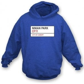 Ninian Park CF11 (Cardiff City) Hooded Sweatshirt