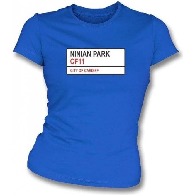Ninian Park CF11 (Cardiff City) Womens Slimfit T-Shirt