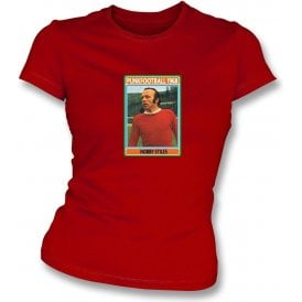 Nobby Stiles 1968 (Man United) Red Women's Slimfit T-Shirt