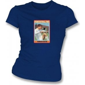 Norman Hunter 1969 (Leeds United) Navy Women's Slimfit T-Shirt