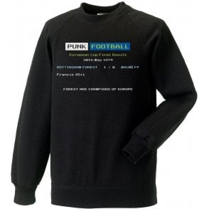 Nottingham Forest 1979 Ceefax Kids Sweatshirt