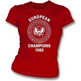 Nottingham Forest European Champions 1980 Girl's Slim-Fit T-shirt