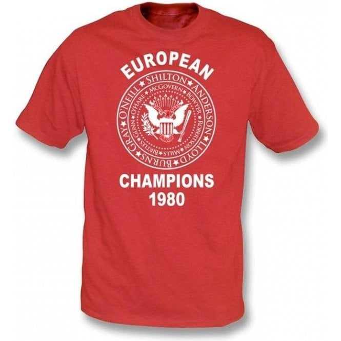 Nottingham Forest European Champions 1980 T-shirt