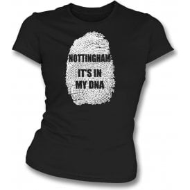 Nottingham - It's In My DNA (Notts County) Womens Slim Fit T-Shirt