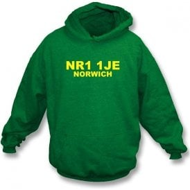 NR1 1JE Norwich Hooded Sweatshirt (Norwich City)