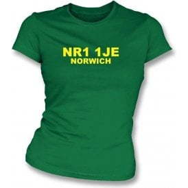 NR1 1JE Norwich Women's Slimfit T-Shirt (Norwich City)