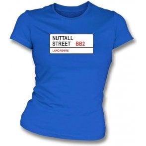Nuttall Street BB2 Women's Slimfit T-Shirt (Blackburn Rovers)