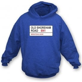 Old Shoreham Road BN1 Hooded Sweatshirt (Brighton)
