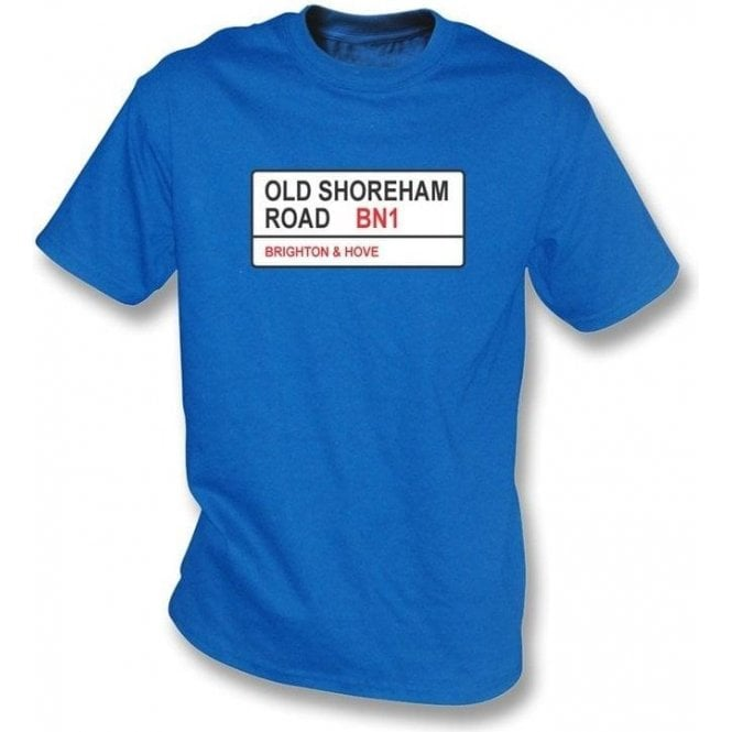 Old Shoreham Road BN1 T-Shirt (Brighton)