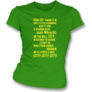 On the Ball, City Womens Slim Fit T-Shirt (Norwich City)