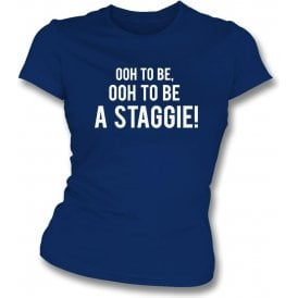 Ooh To Be A Staggie (Ross County) Womens Slim Fit T-Shirt