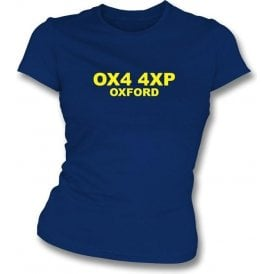 OX4 4XP Oxford Women's Slimfit T-Shirt (Oxford United)